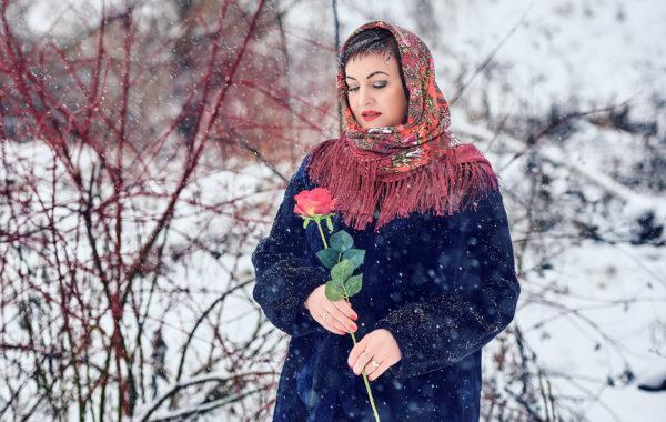 Зимний женский портерт