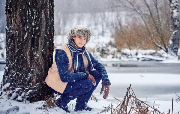 Зимний мужской портрет